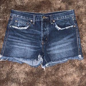 4 button Jean Shorts